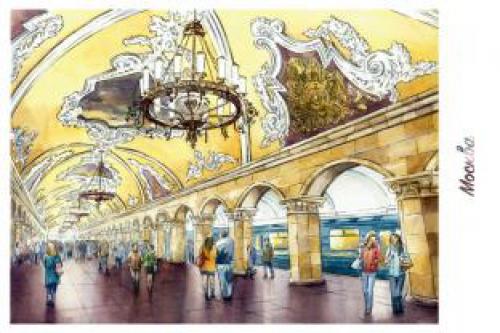 """станция метро """"Комсомольская"""" г.Москва"""