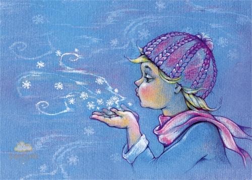 Полет снежинок