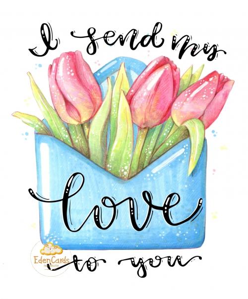 Тюльпаны в конверте