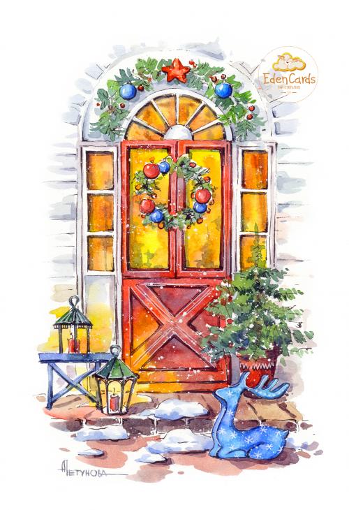 Рождественская дверь