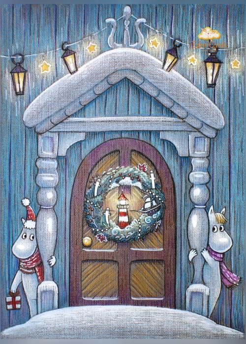 Новогодняя дверь в Муми-Дол