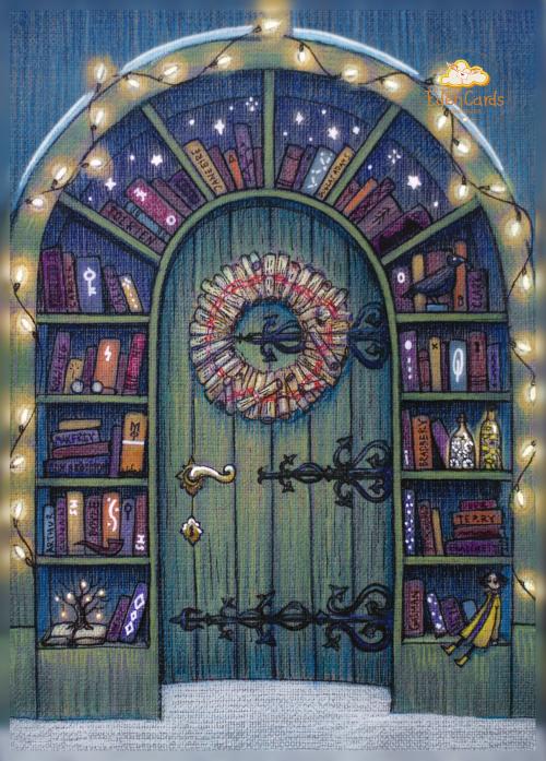 Новогодняя книжная дверь