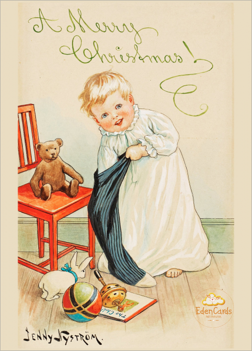 Ребенок, достающий подарки