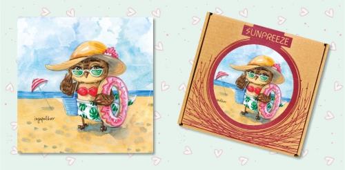 34. Солнце! Море! Пляж! (керамический магнит)