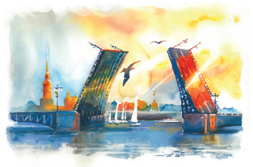 Дворцовый мост. г. Санкт-Петербург