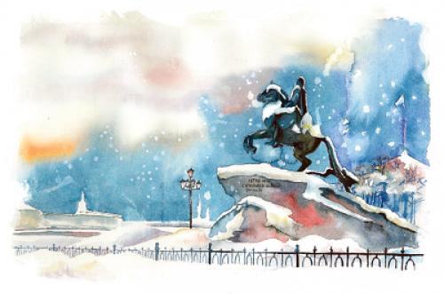 Медный всадник. Зима. г.Санкт-Петербург