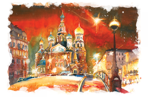 Спас-на-Крови. Ночь. г.Санкт-Петербург