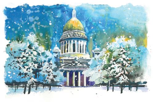 Исаакиевский собор. Зима. г.Санкт-Петербург