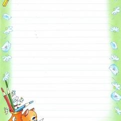 """Набор для письма """"Котик пишет письма"""""""