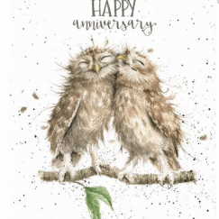 """Anniversary Owls"" card"