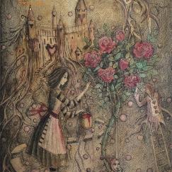 Алиса. Мы красим розы в красный цвет