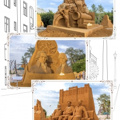 """Набор открыток """"Фестиваль песочных скульптур"""" (без надписи)"""